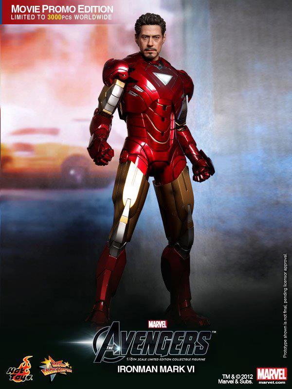 Hot Toys IRON MAN Mark VI Collectible Action Figure