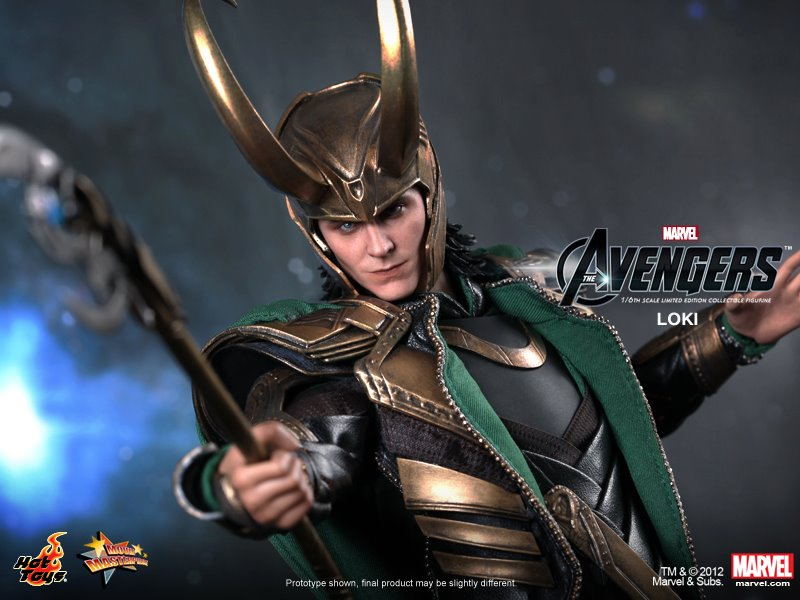 THE AVENGERS - Hot Toys LOKI Collectible Action Figure