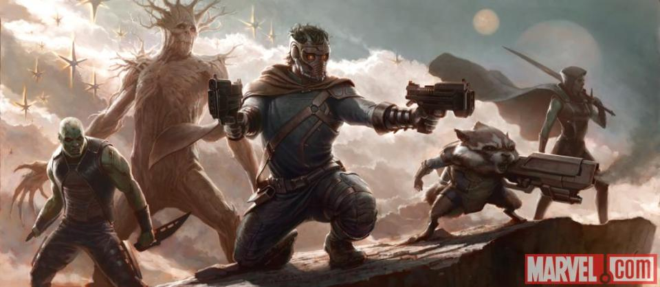 Guardians Of The Galaxy - Concept Art And Marvel Title Logos (5)