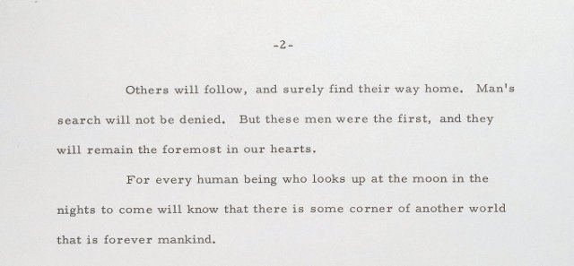 The Presidential Speech if 1969 moon landing have failed (1)