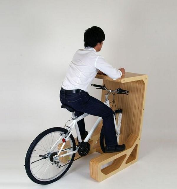 Bike rack desk
