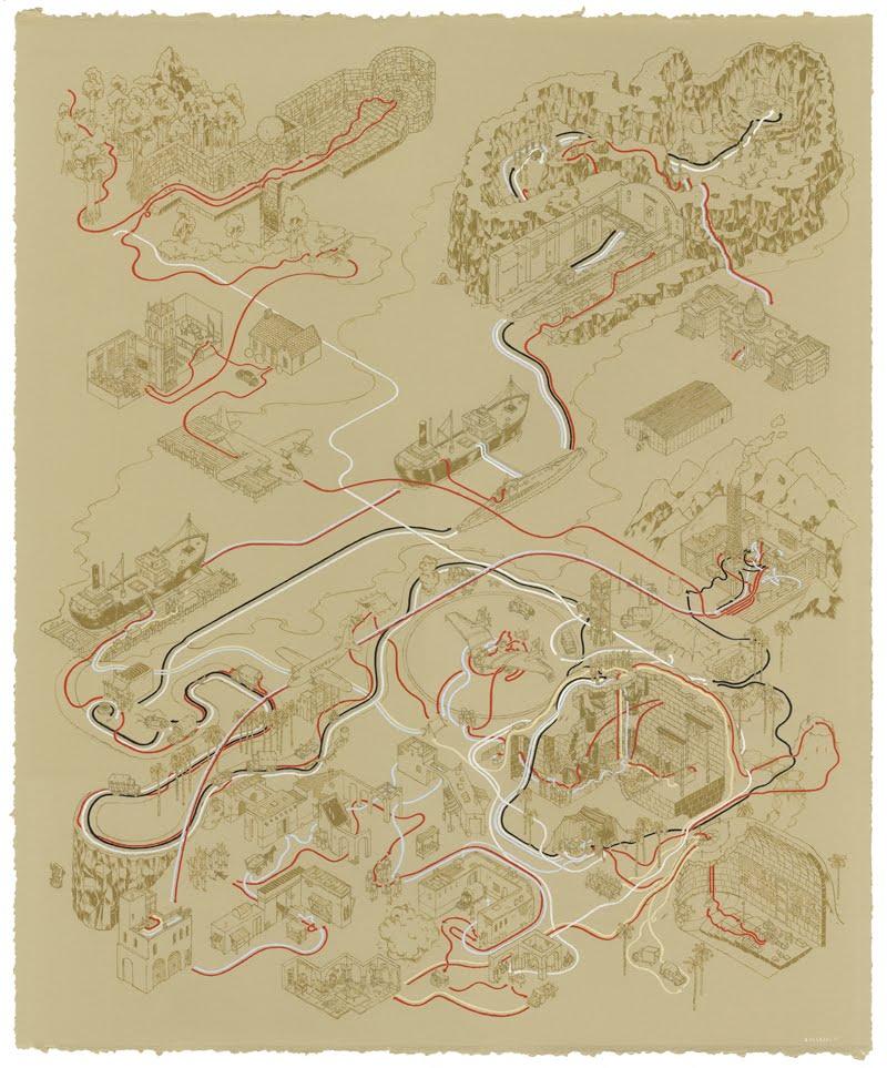 indiana jones movie maps