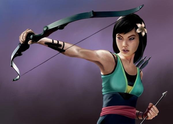 Disney-Princess-Avengers-Hawkeye-Mulan