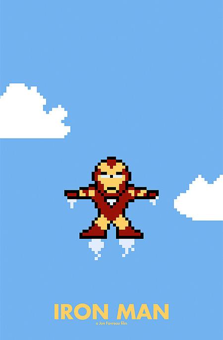 iron man 8-Bit Movie Posters