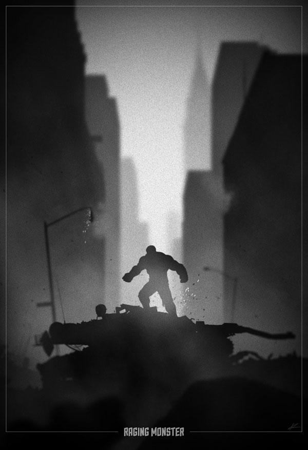 hulk Noir Movie Posters