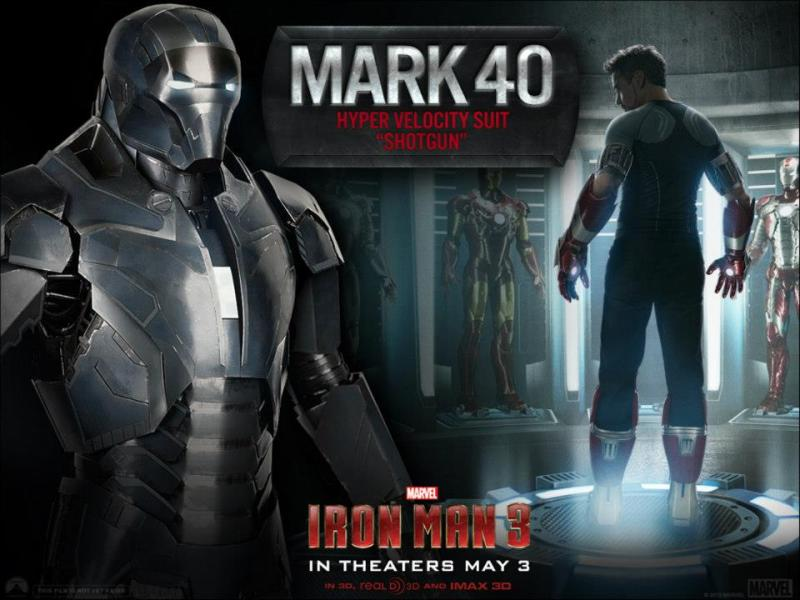 Marvel has released a new promo image for Iron Man 3 featuring Tony Stark's Mark 33 Centurion armor and the Mark 40 Shotgun armor.