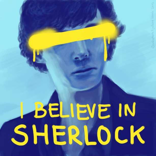 sherlock character poster art