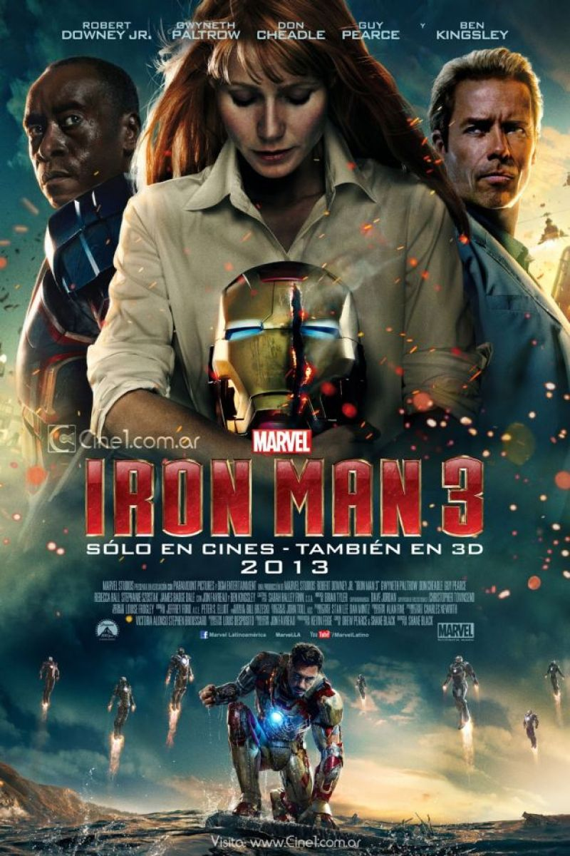 International poster for iron man 3