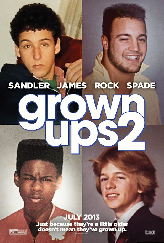 Grown Ups 2 Poster Offers Actor Flashback Photos