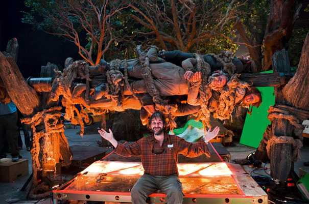 Behind the scene photo from The Hobbit