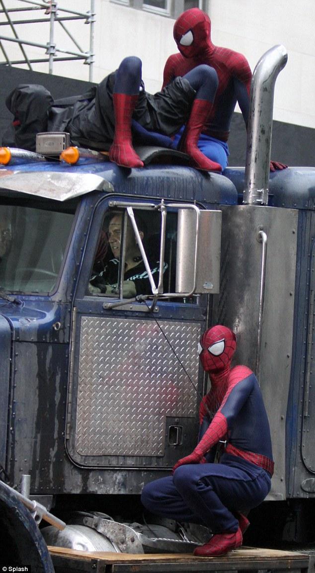 The amazing spiderman 2 set photos