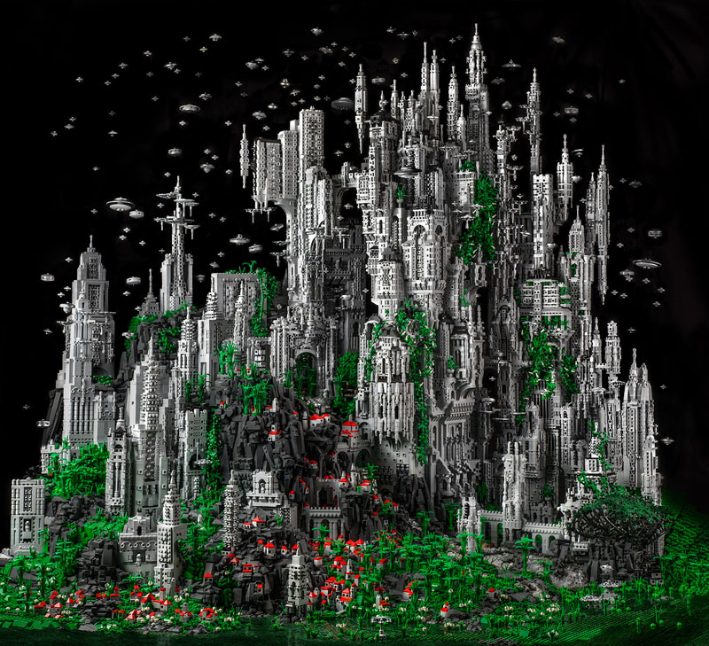 LEGO Builder Creates Epic Fantasy World