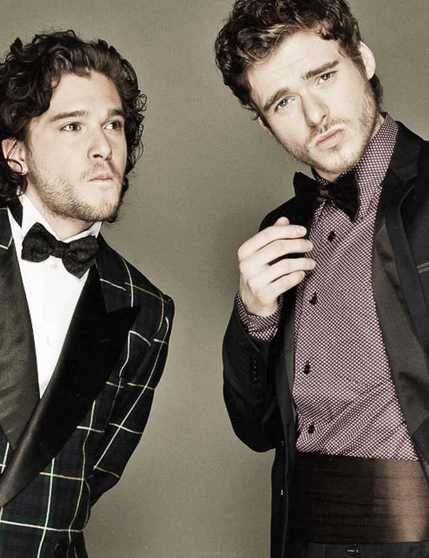 Robb and Jon in suits