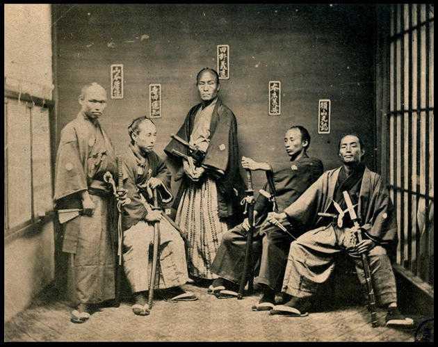 Samurai taken between 1860 and 1880.
