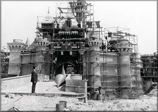 The construction of Disneyland.
