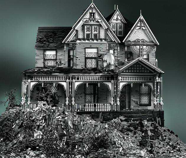 Creepy Abandoned Houses Made of Lego