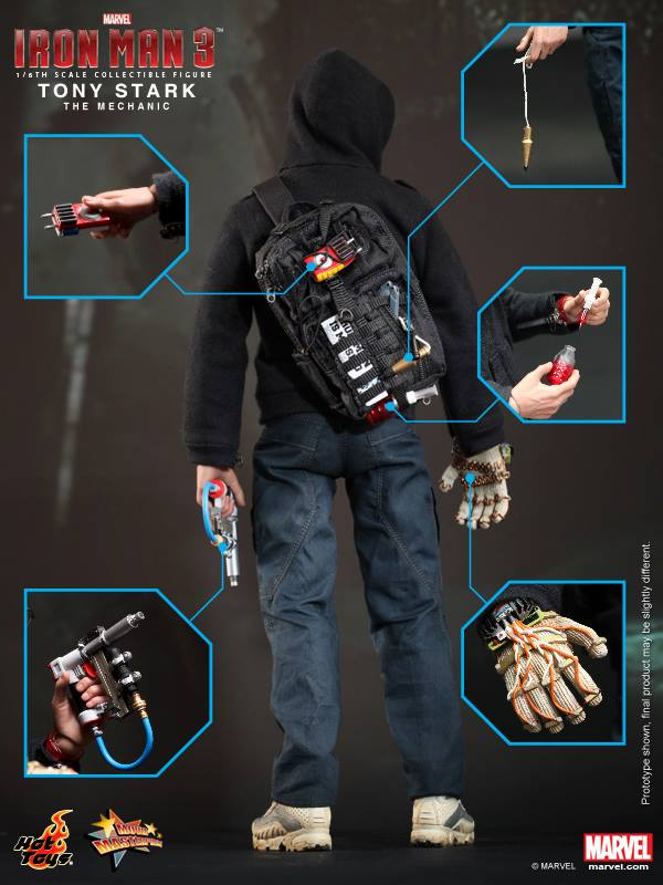 TONY STARK (THE MECHANIC) Hot Toys Figure