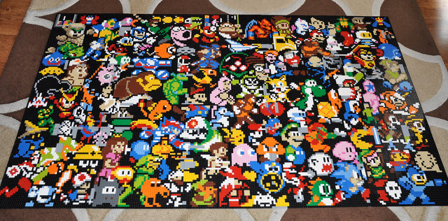 LEGO Mosaic Of Video Game Characters