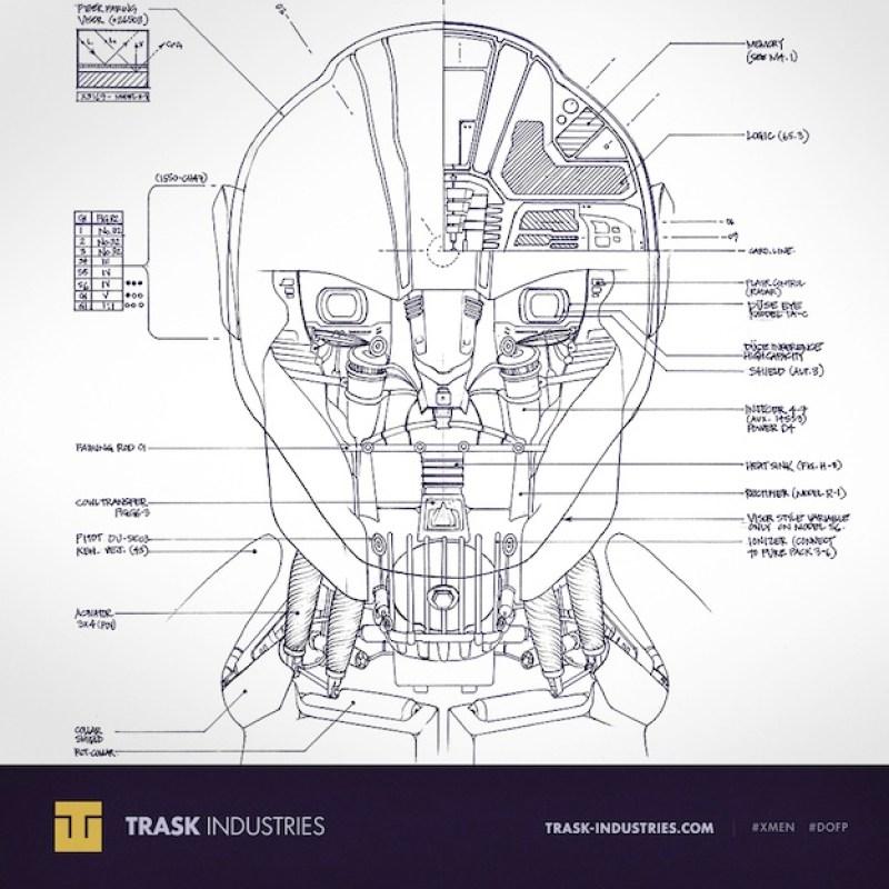 X-Men: Days of Future Past Sentinel Blueprints