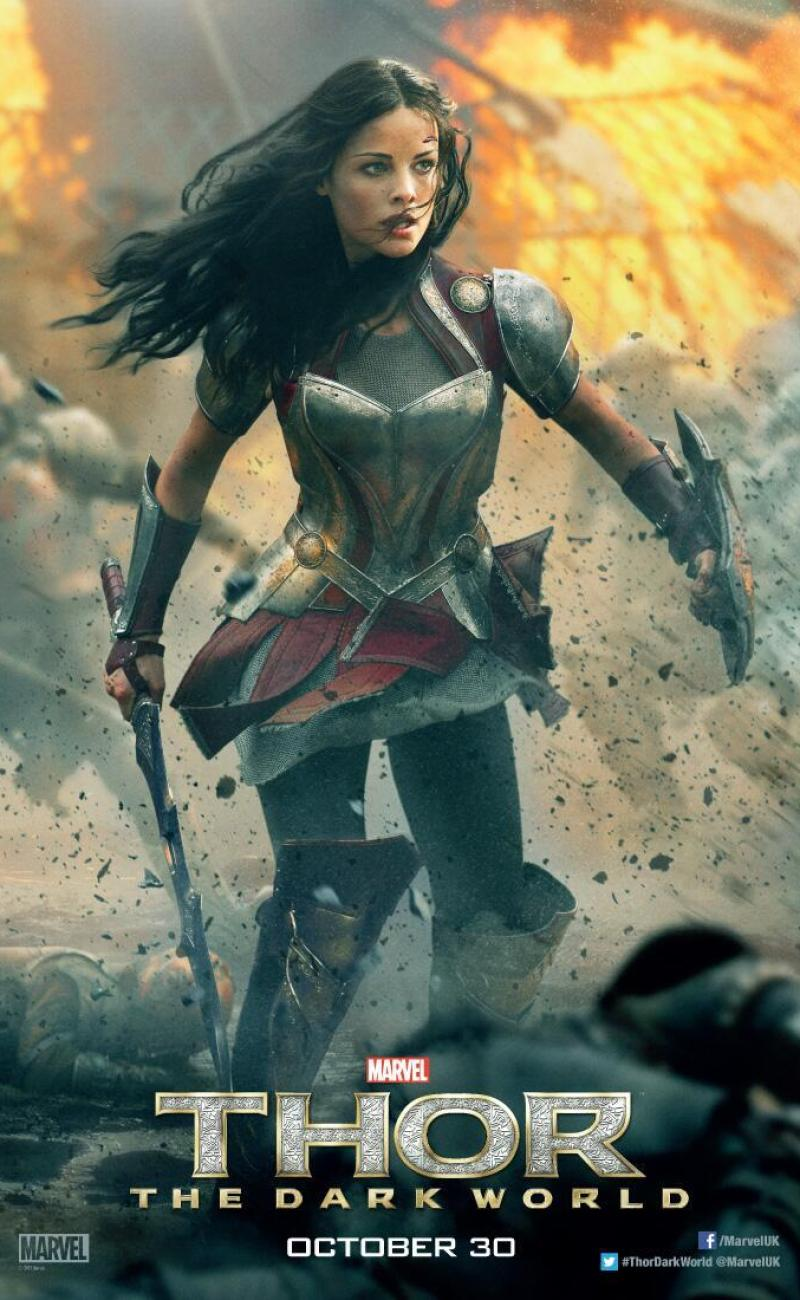 Thor The Dark World Character Posters For Lady Sif And Jane Foster