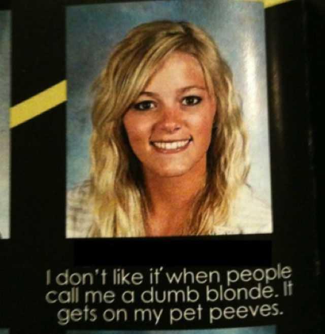 Just being blonde