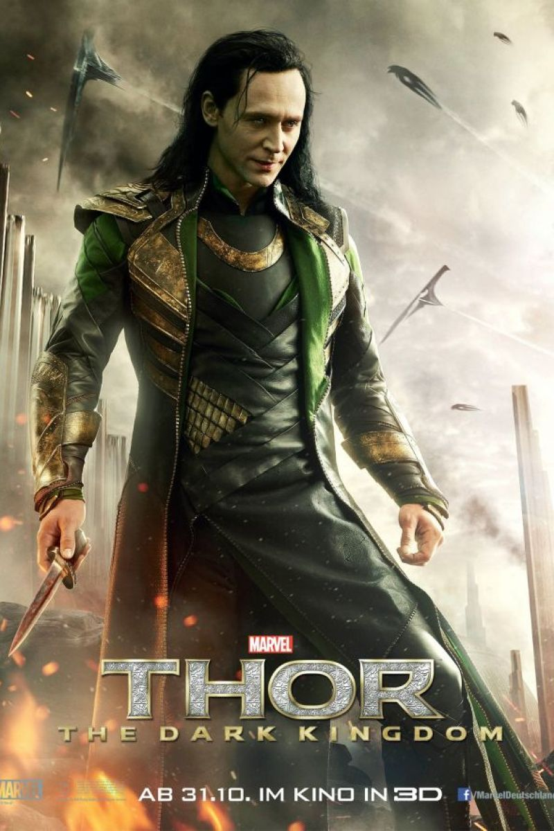 Loki Character Poster For Thor: The Dark World