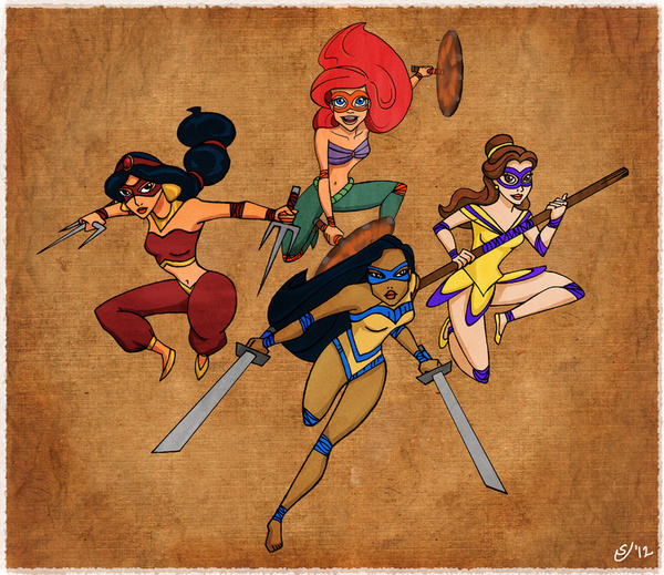 Teenage Disney Ninja Princesses