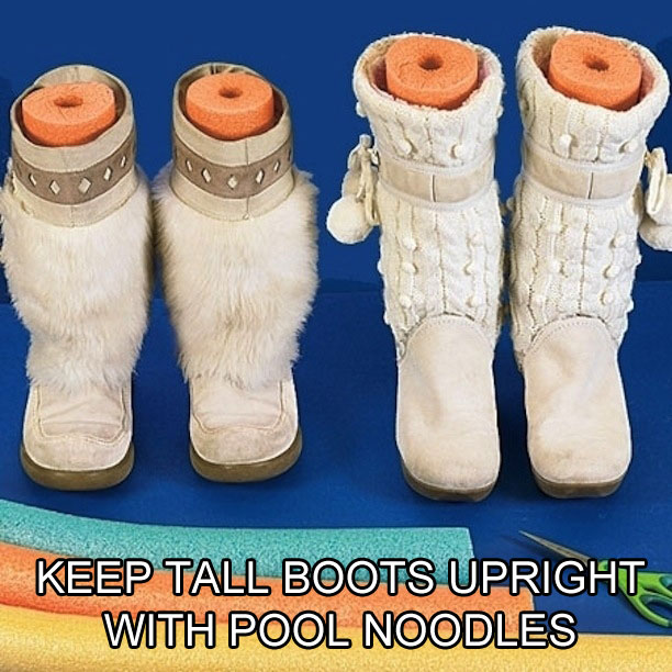 use-pool-noodles-to-keep-tall-boots-upright-life-hack