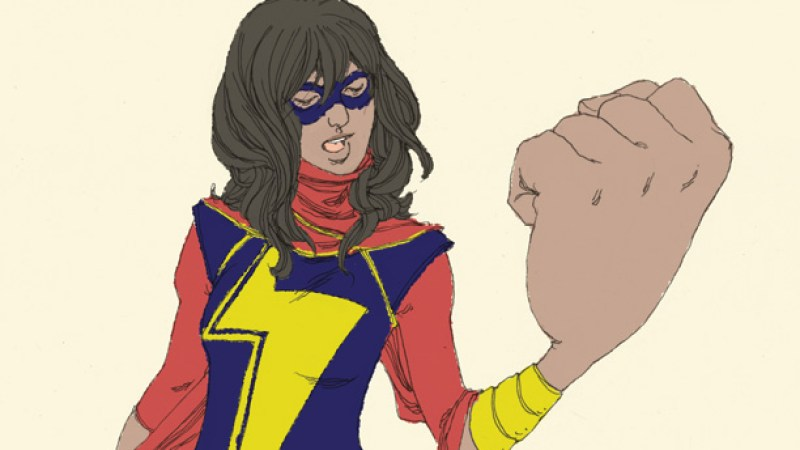 The new Ms Marvel concept art by Adrian Alphona