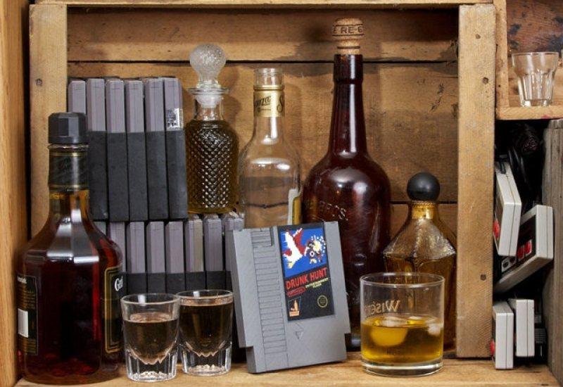 Classic Nintendo Cartridge Flasks