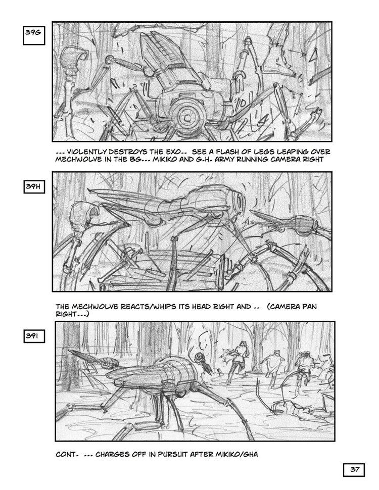 Storyboard Art for Steven Spielberg's Robopocalypse
