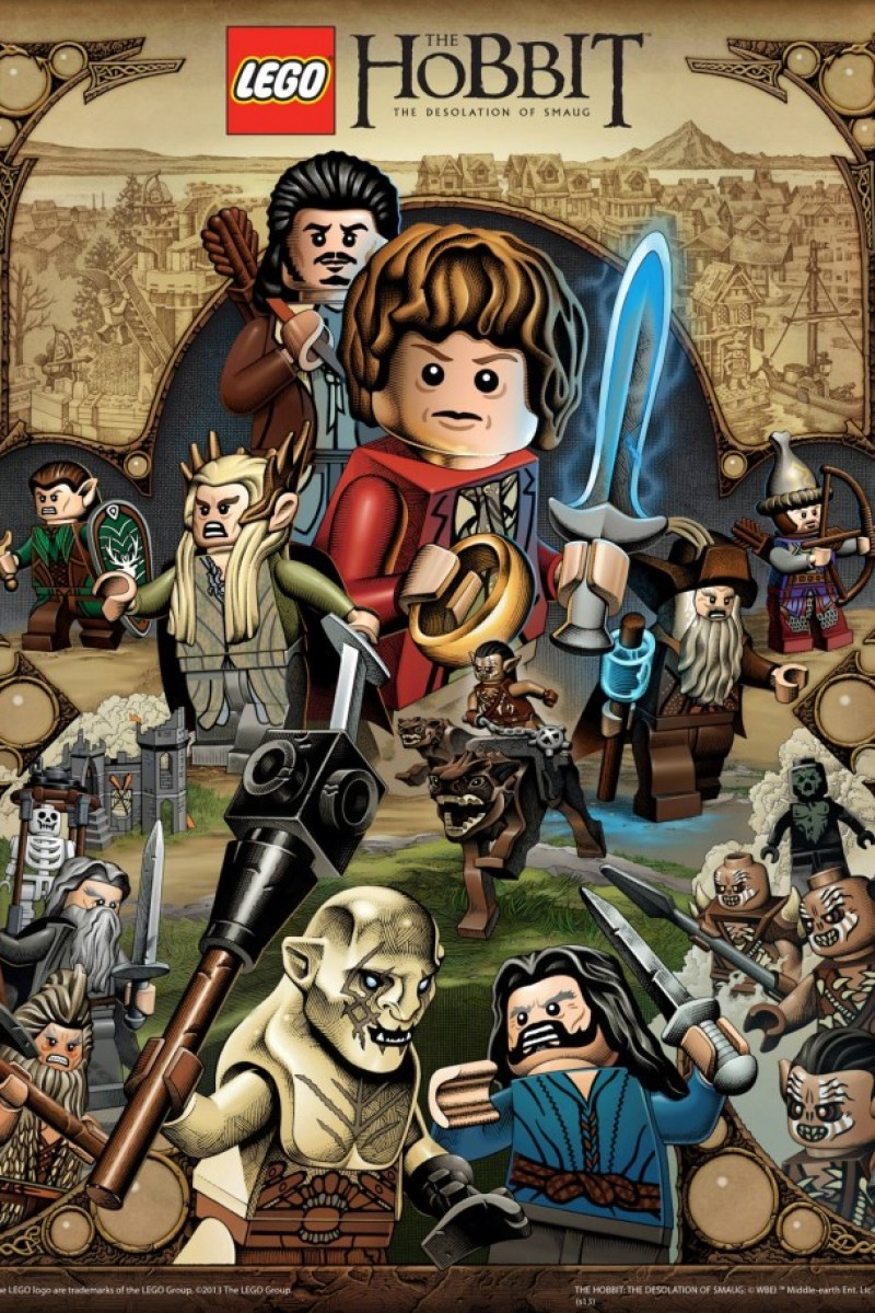 The Desolation of Smaug Lego Poster