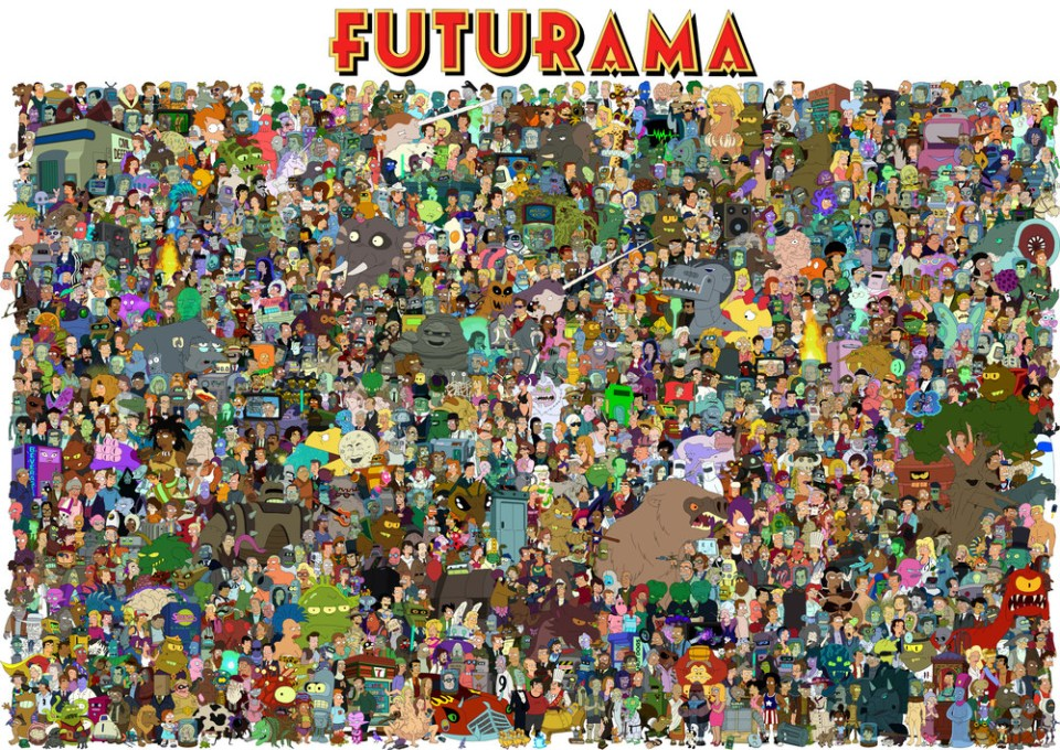 Giant FUTURAMA Image Featuring Every Character from the Series