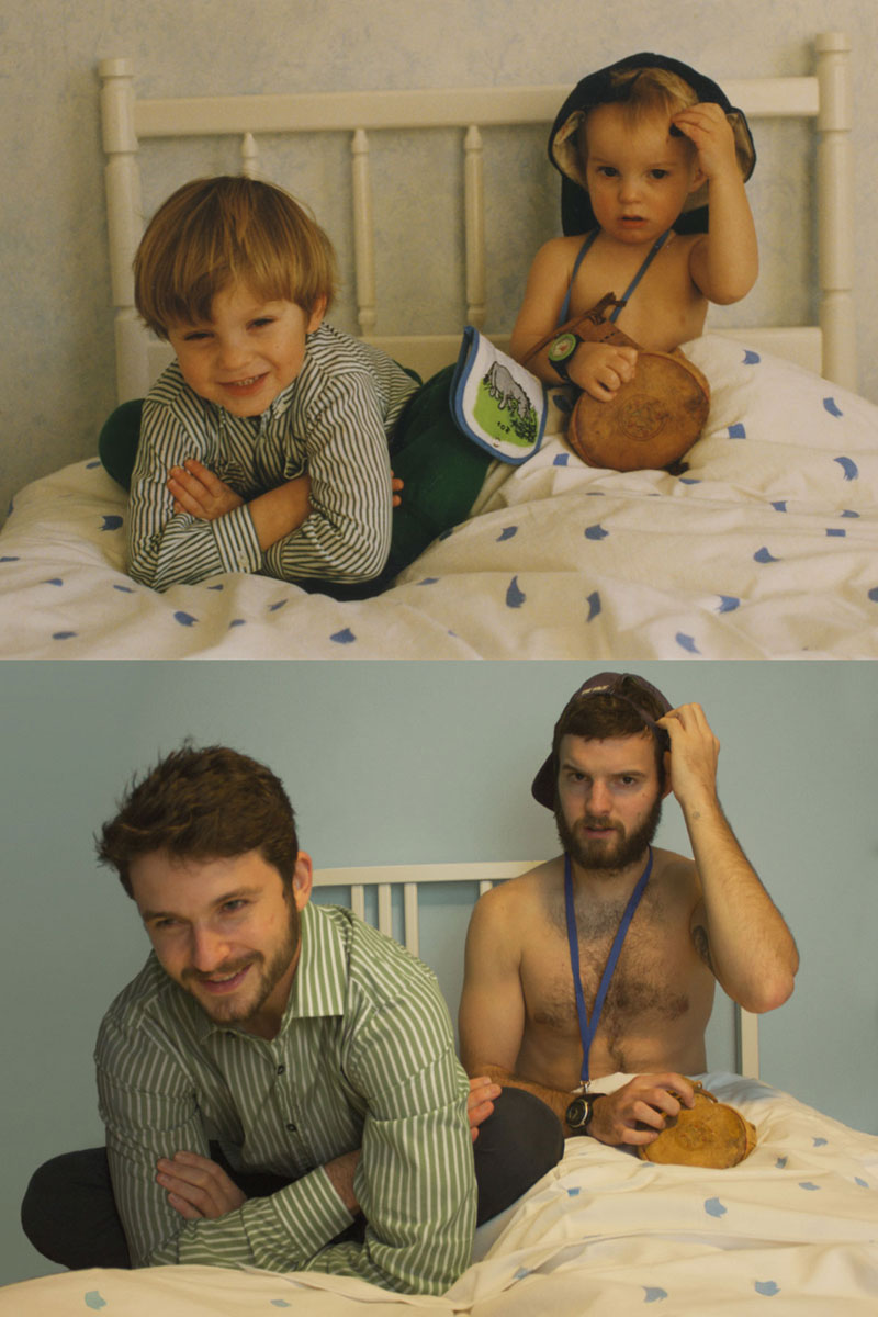Two Brothers are Recreating Old Family Photos