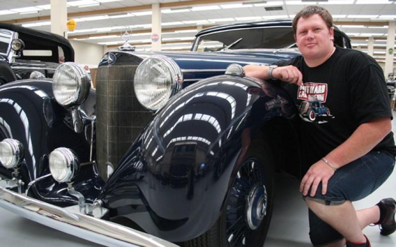Mystery behind vintage car