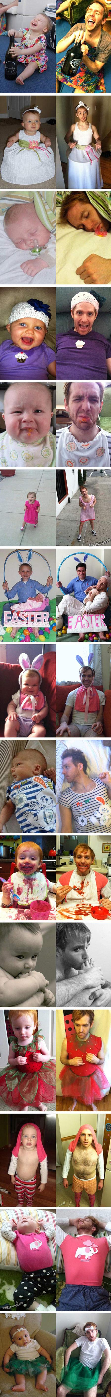 Internet Geek Reenacts Random Baby Pictures