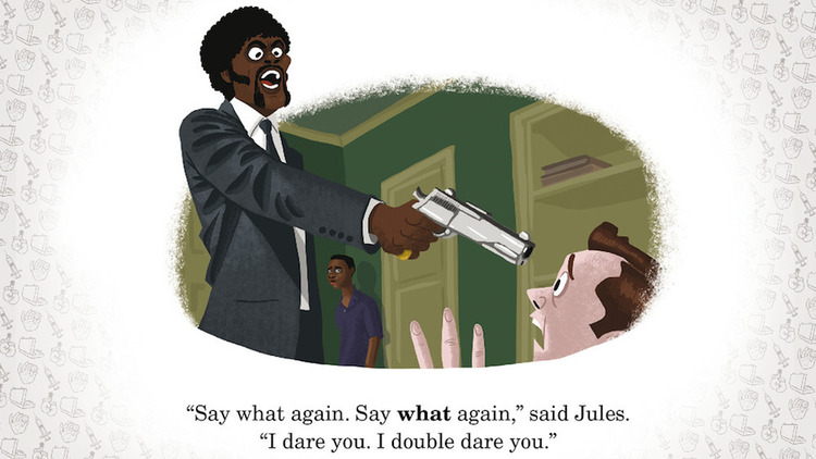 R Rated Movie Scenes Reimagined As Kids Book Art