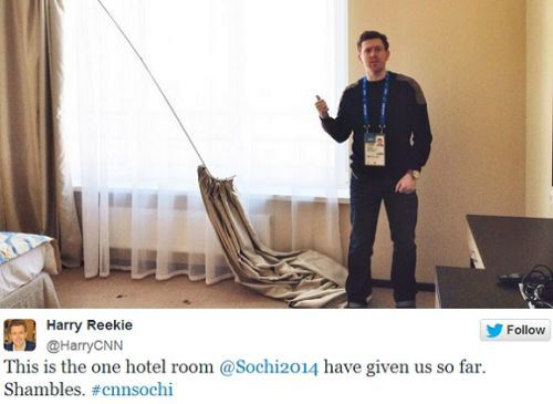 Conditions at the Sochi Olympics are bad/hilarious