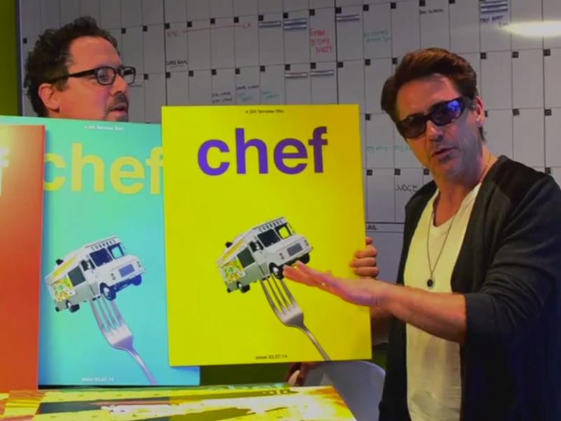 Jon Favreau & Robert Downey Jr. Unveil Posters for CHEF