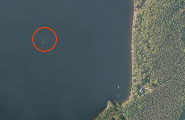 Beautiful Loch Ness Monster Spotted In Google Earth