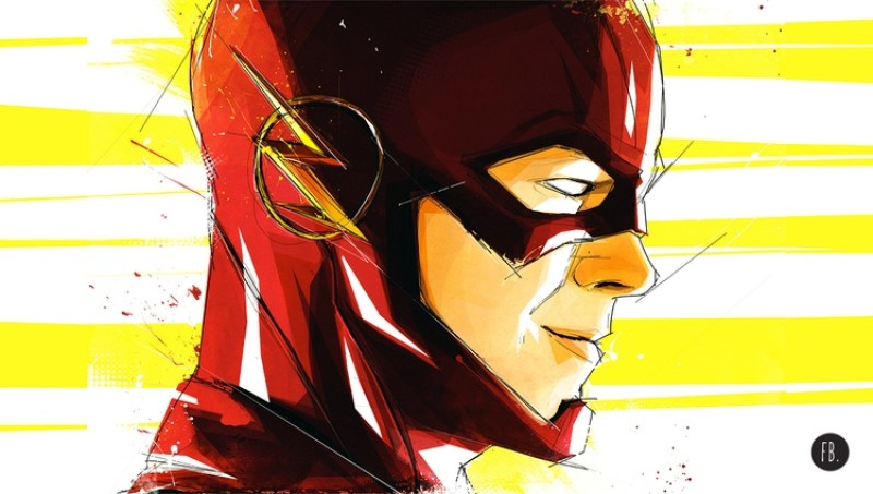 Flash Superhero Art