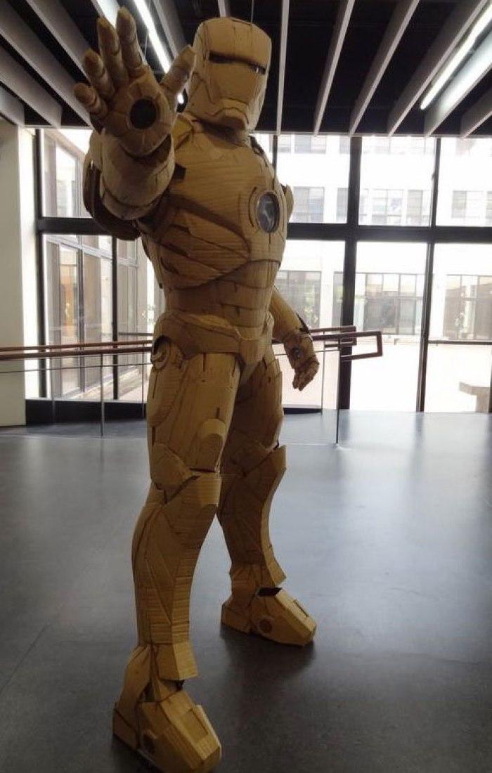 Life-Size Iron Man Cardboard Suit