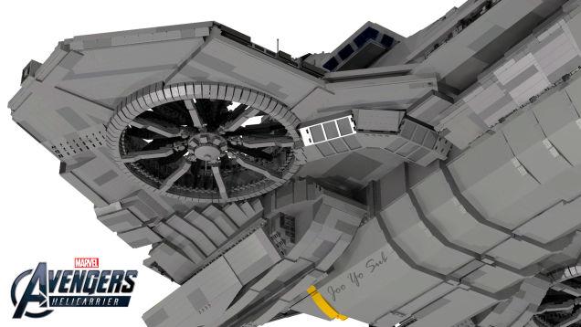 LEGO Avengers' Helicarrier
