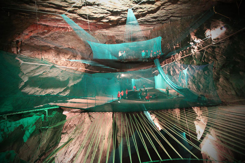 World's Largest Underground Trampoline