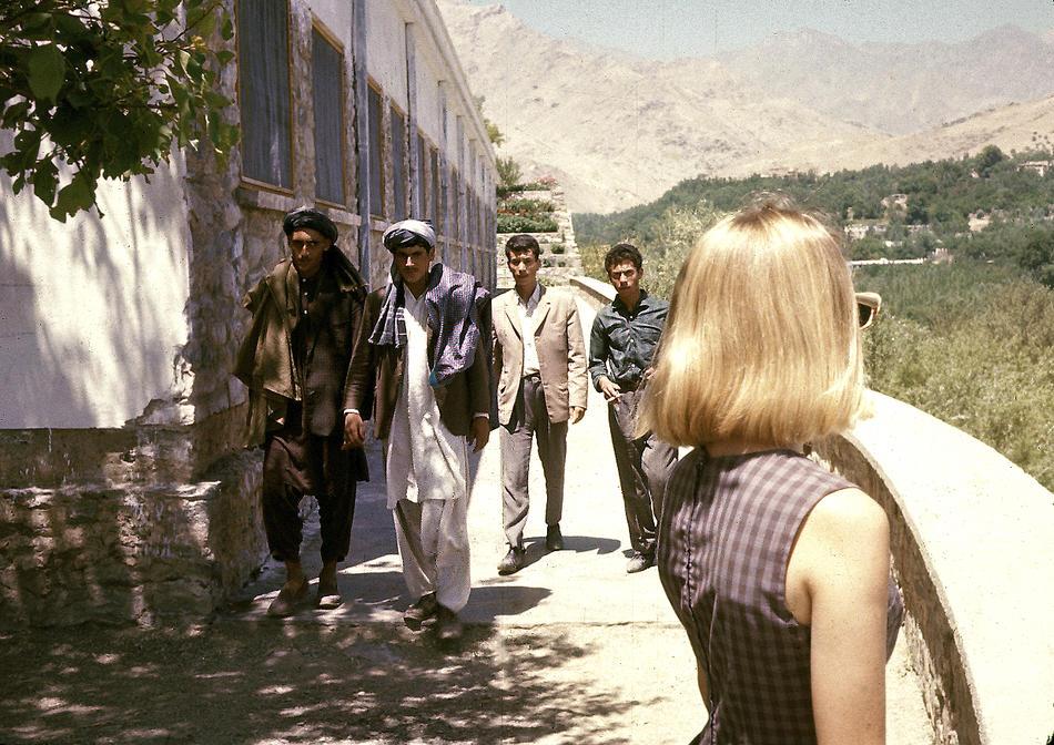 Peg Podlich arriving in Kabul.