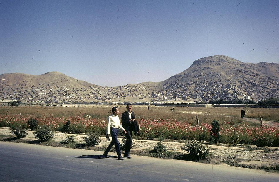 Two Afghani men walking home.