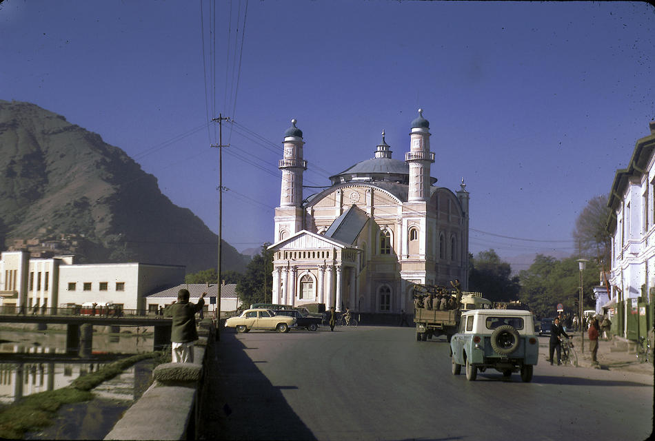 Shah-Do Shamshira Mosque, built in the early 20th century under the reign of Amanullah Khan.
