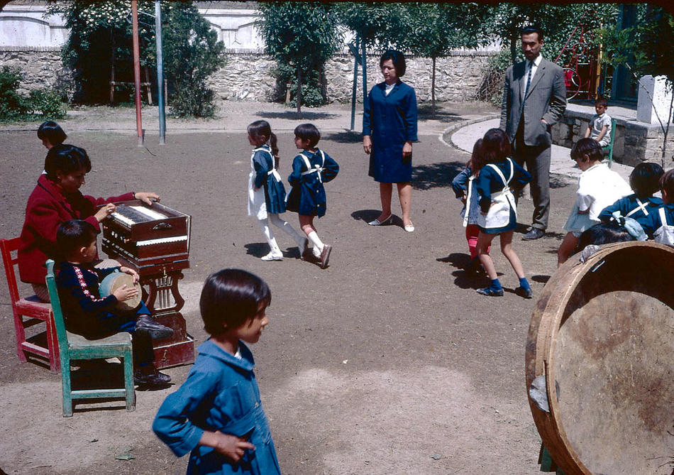 Young students in a playground.