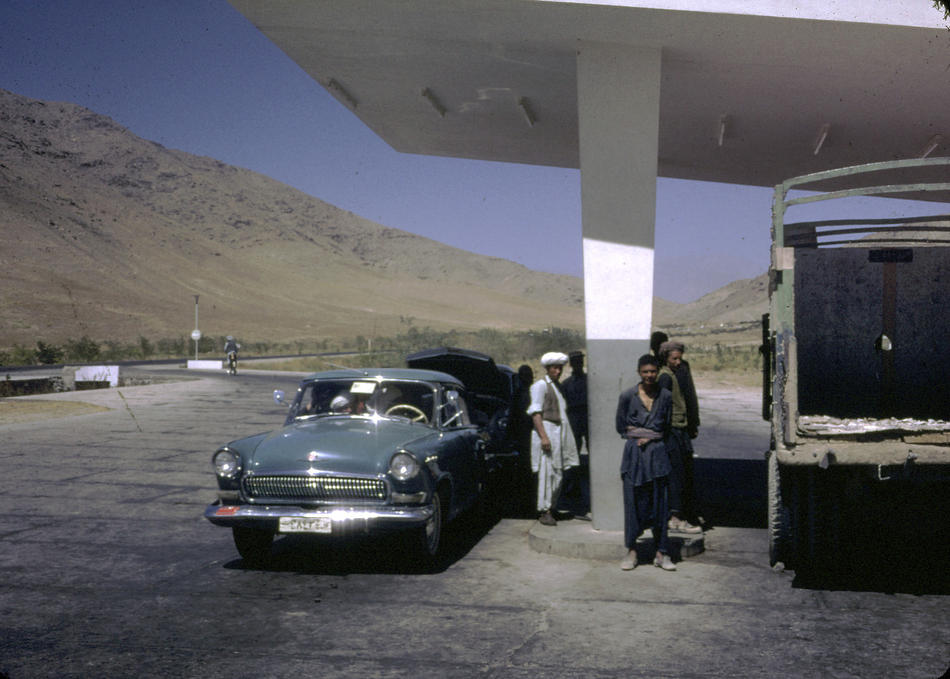 A gas station in Kabul.