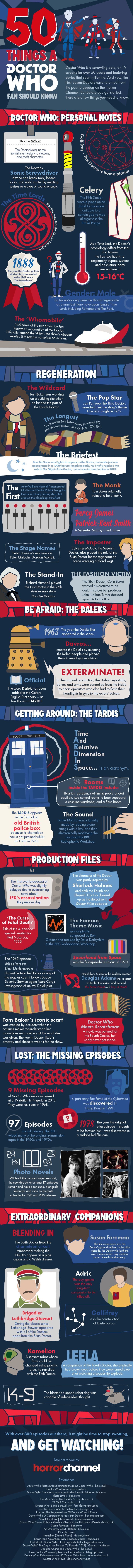 Doctor Who infographic: 50 things every fan should know